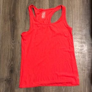 Fitted neon athletic tank